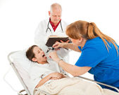Pediatrics - Unhappy Patient — Stock Photo