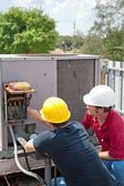 Air Conditioning Repair - Teamwork — Stock Photo