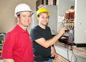 Electrician in Training — Stock Photo