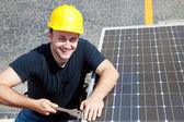 Green Job - Happy Worker — Stock Photo