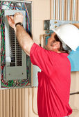 Master Electrician Working — Stock Photo