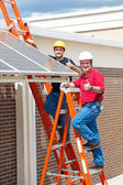 Thumbs Up for Solar Energy — Stock Photo
