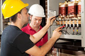 Vocational Training - Electrician — Stock Photo