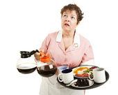 Busy Waitress — Stock Photo