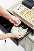 Cash Register - Small Change — Stock Photo