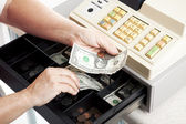 Cash Register Drawer Horizontal — Stock Photo
