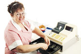 Cheerful Cashier — Stock Photo