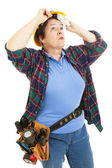 Female Worker - Hot and Tired — Stock Photo