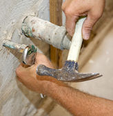 Plumbing Work Closeup — Stock Photo