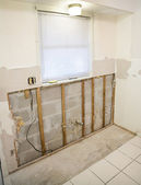 Replacing Mouldy Drywall — Stock Photo