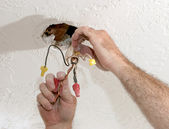 Separating Electrical Wires — Stock Photo
