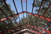 Steel Frame Roof Beams — ストック写真