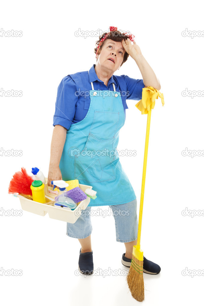 Unhappy housekeeper stock photo lisafx 6516366 for Household bargaining and the design of couples income taxation