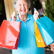 Senior Woman Shopper — Stock Photo