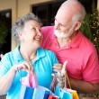 Shopping Seniors In Love - Foto Stock