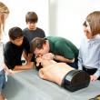 Hight School Health Class - CPR — Stock Photo
