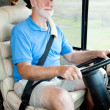 Stock Photo: Driving the Motor Home