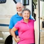 Happy Retired Couple with RV — Stock Photo #6555188
