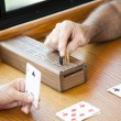 Playing Cribbage — Stock Photo
