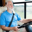 RV Senior - Driving — 图库照片