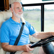 RV Senior - Driving — Stock Photo