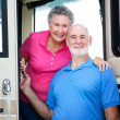 RV Senior Couple — Stock Photo