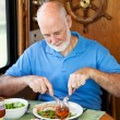 RV Senior Man - Healthy Eating - Stock Photo