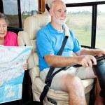 RV Seniors - Backseat Driver — Stock Photo #6555230