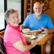 RV Seniors - Casual Dining — Stock Photo