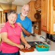 RV Seniors - Cooking Together - Stok fotoraf
