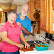 RV Seniors - Cooking Together — Stock Photo #6555242
