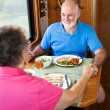 RV Seniors - Dinner Conversation — Stock Photo #6555245