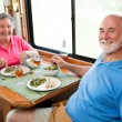 RV Seniors - Dinner for Two — Stock Photo #6555247