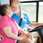 RV Seniors - Driving Distractions — Stock Photo