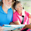 RV Seniors - Eyes on the Road — Stock Photo