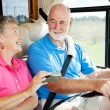 Stock Photo: RV Seniors - GPS Navigation