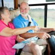 RV Seniors - Giving Directions - Stock Photo