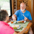 RV Seniors - Great Dinner Honey — Stock Photo