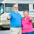 RV Seniors - Happy Retirement — Stock Photo