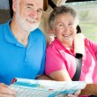 RV Seniors - In the Cockpit — Stock Photo