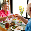 Royalty-Free Stock Photo: RV Seniors - Romantic Dinner