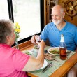 RV Seniors - Romantic Toast — Stock Photo