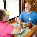 RV Seniors - Romantic Toast — Stock Photo #6555287