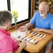 RV Seniors Playing Board Game — Stock Photo