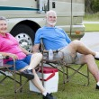RV Seniors Relaxing Outdoors — Stock Photo