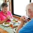RV Seniors - Saying Grace — Stock Photo