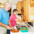 RV Seniors in Kitchen — Stock Photo
