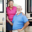 RV Seniors in the Doorway — Stock Photo