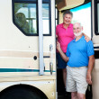 Senior Couple in their RV — Stock Photo