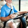 Senior Driver Using GPS — Stock Photo #6555352